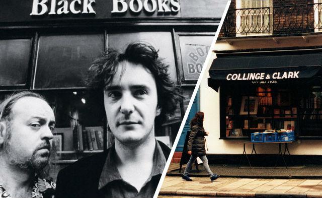Black Books TV film location: Collinge & Clarke, Leigh Steet, London