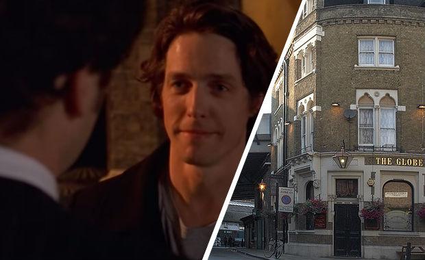 Bridget Jones' Diary filming locations: the Globe pub in Borough Market