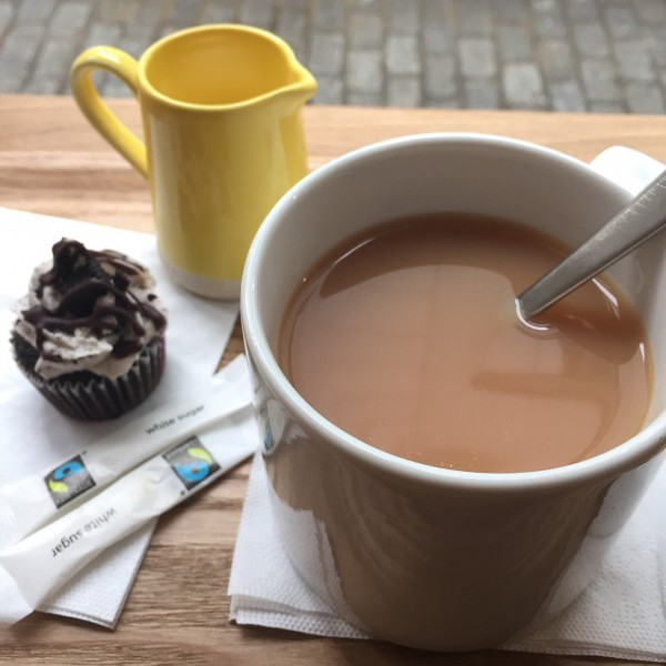 Earl Grey tea from Crumbs & Doilies, Soho, London