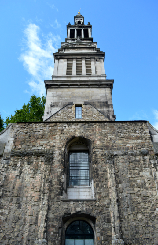 The tower at Christ Church Greyfriars, London