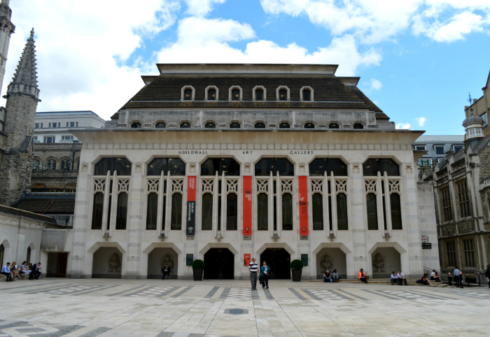 Guildhall Art Gallery exterior, City of London