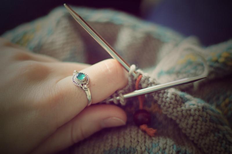 Knitting: A Gudrun Johnston Pattern
