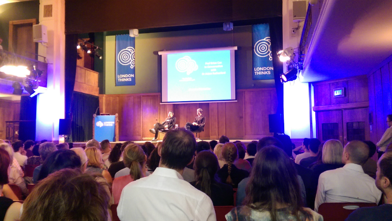 London Thinks event with Brian Cox at Conway Hall, London