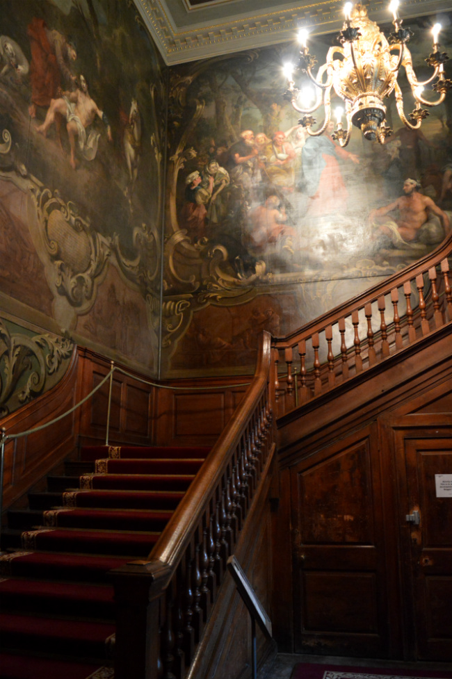 hogarth staircase at st barts hospital museum