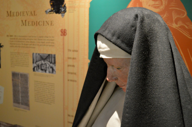 Displays at St Bartholomew's Hospital Museum, London