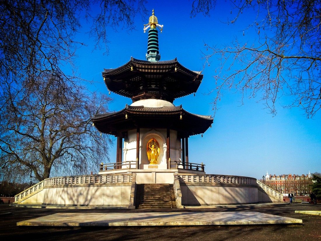 peace pagoda, battersea park, London