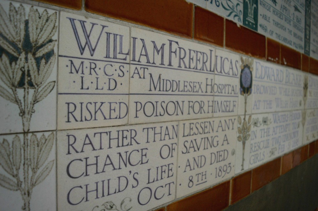The Memorial to Heroic Self Sacrifice, Postmans Park, London