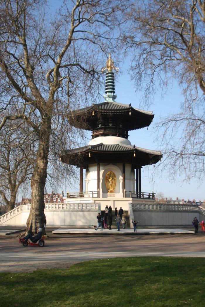 Peace Pagoda at Battersea Park, London