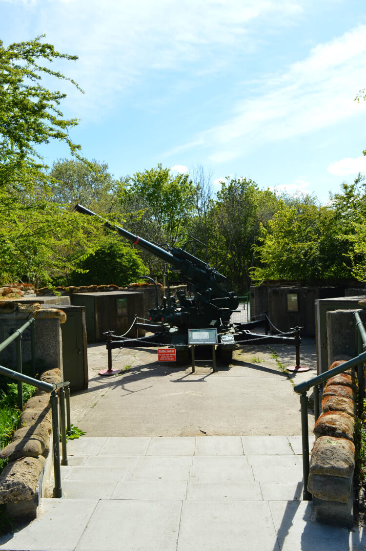 Wartime gun at Mudchute City Farm, London
