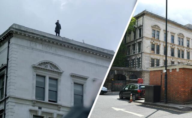 Sherlock 'Reichenbach Falls' location at St Barts Hospital