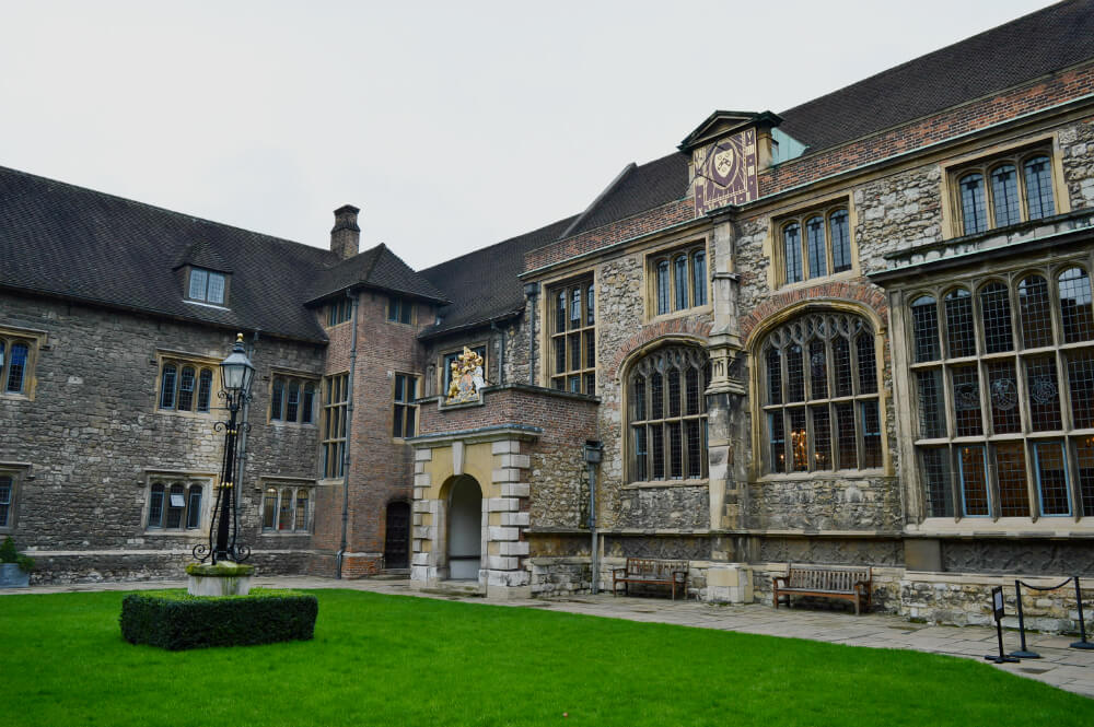 Exterior of The Charterhouse, Smithfield, London