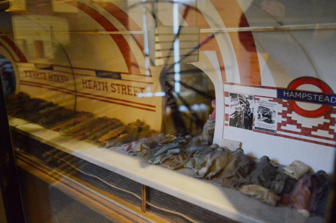 Model of Hampstead Tube station at Burgh House and Hampstead Museum, London