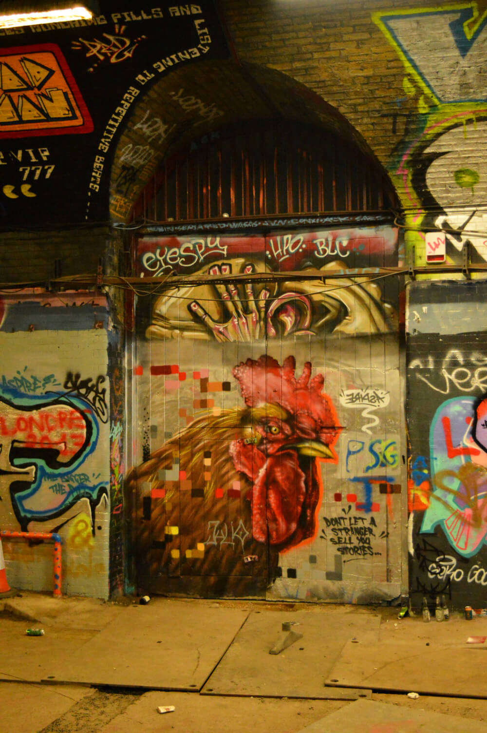 Leake Street Graffiti Tunnel, Waterloo, London