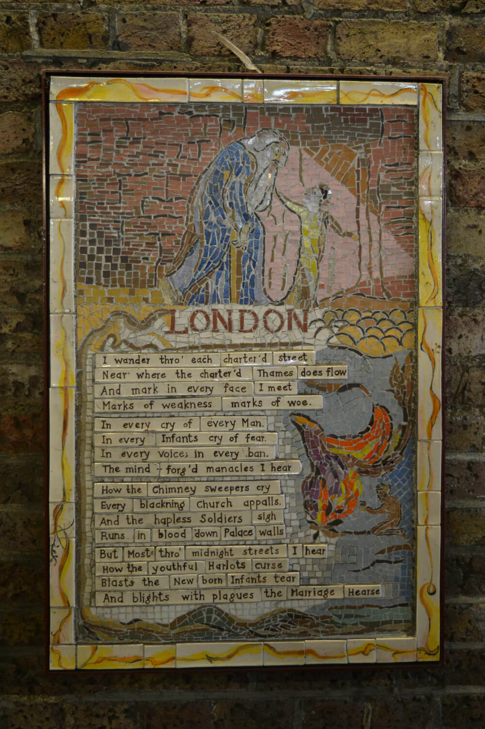 William Blake Southbank Mosaics, Waterloo, London