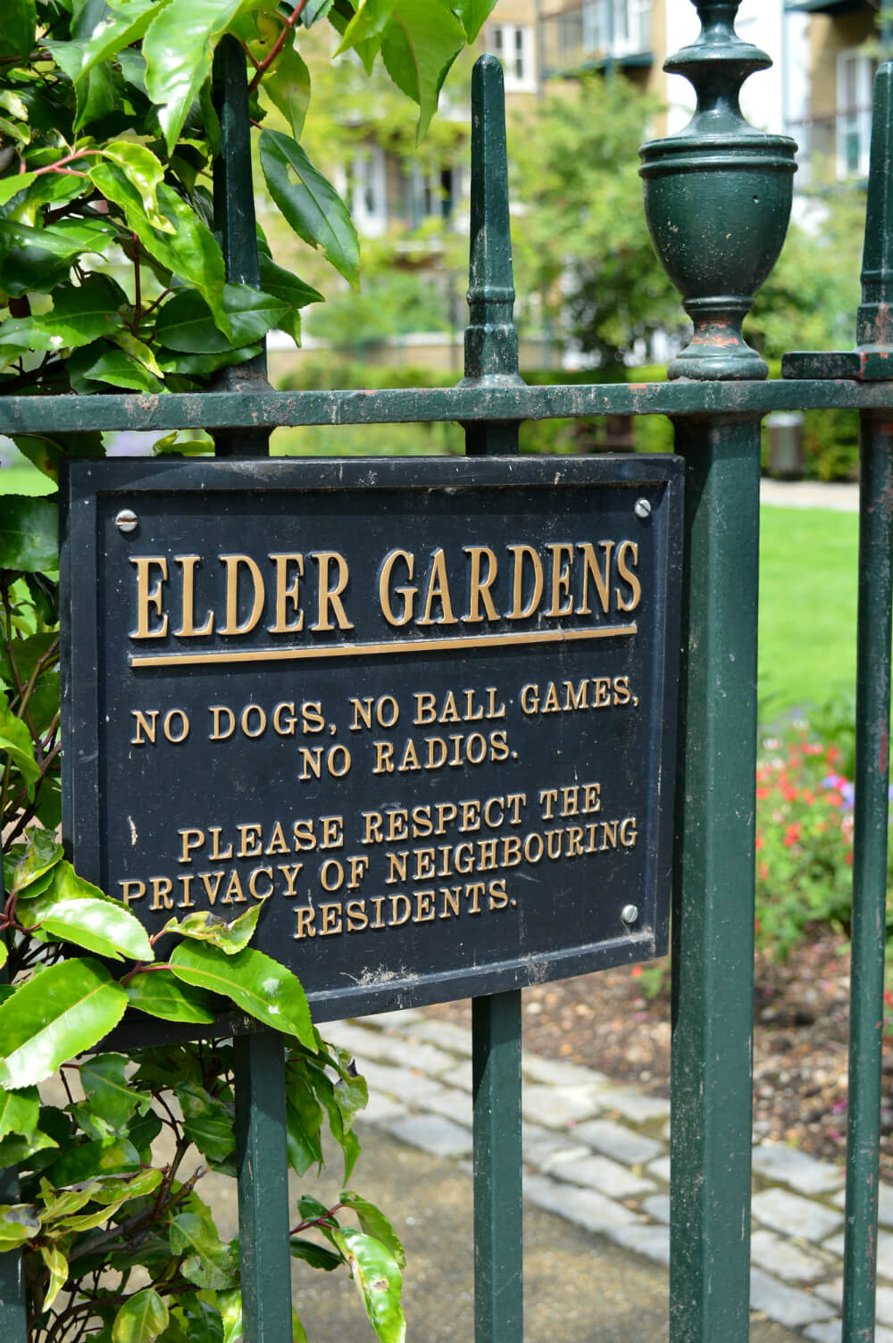 Elder Gardens in Spitalfields, London