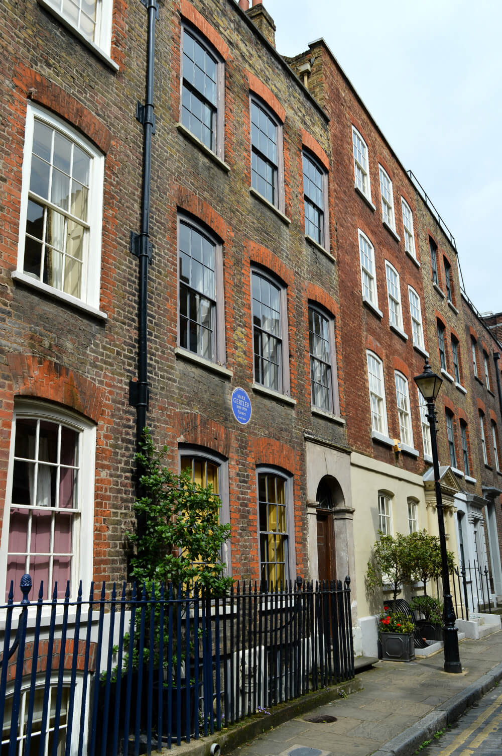 Georgian houses in Elder Street, Spitalfields, London