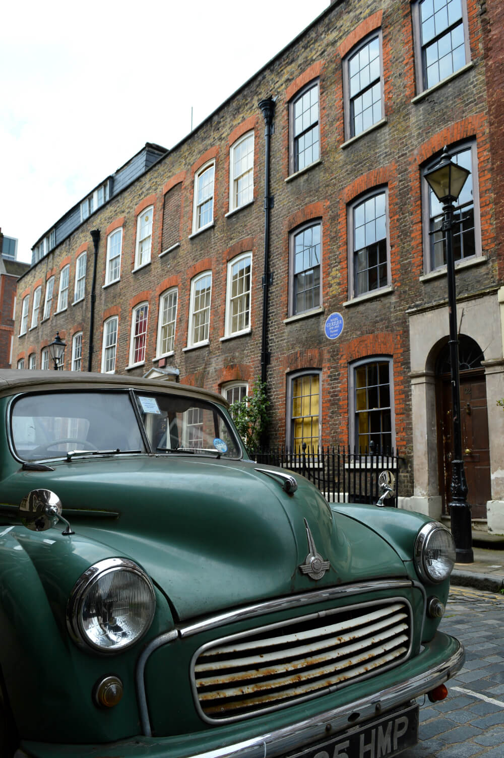 Vintage car in Elder Street, Spitalfields, London