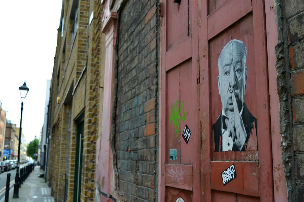 Street art in Princelet Street, Shoreditch, London