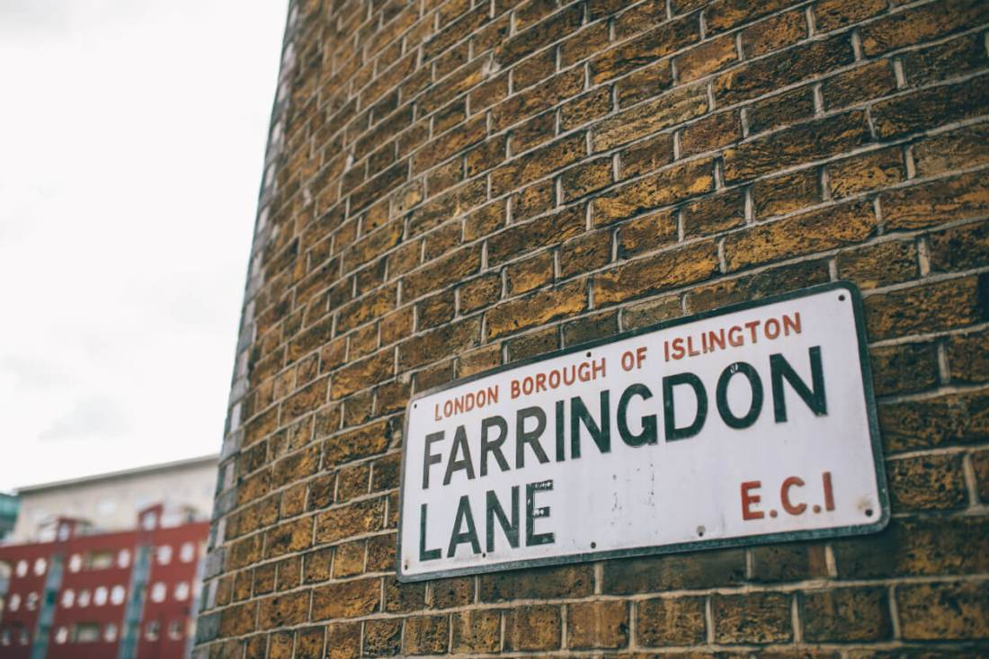 Farringdon Lane, London