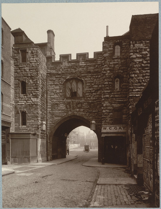 St John's Gate pictured in 1800 by Henry Dixon