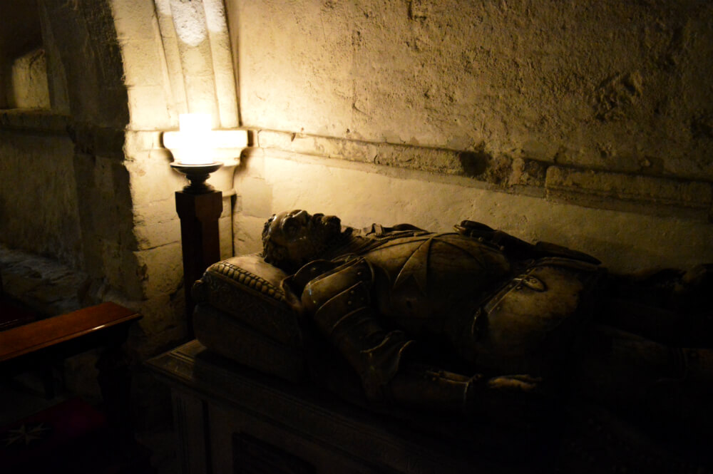 Tomb in the crypt of St John's Gate, Clerkenwell, London