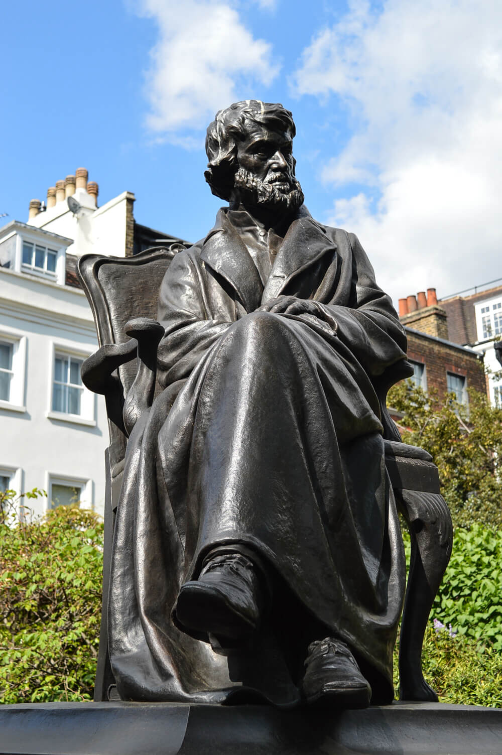 Statue at Carlyle's House, Chelsea, London