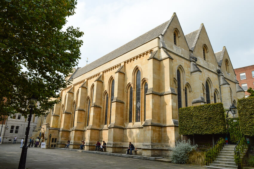 Exterior of Temple Church, London
