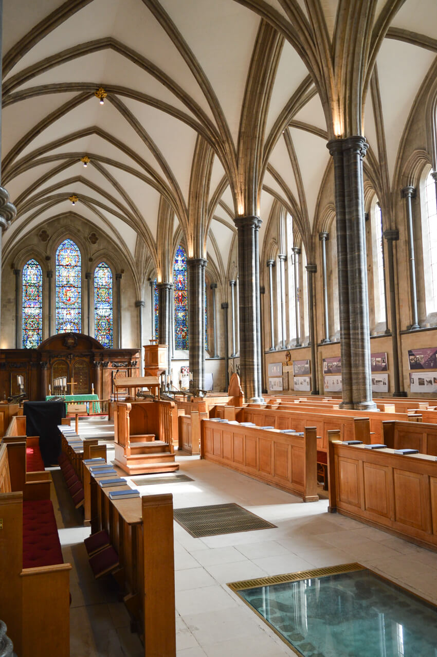 Interior of Temple Church, London